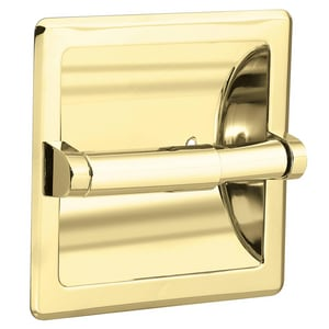 Creative Specialties International Donner Recessed Toilet Tissue Holder in Polished Brass CSI2576PB