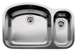 Blanco America Wave™ 1-1/2 Bowl Sink with 6 in. and 10 in. Bowl Depths B440246