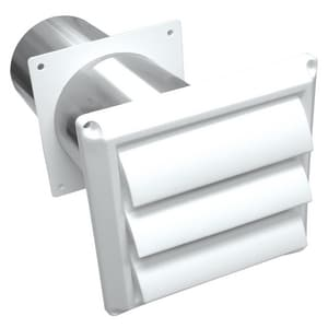 Lambro Industries 3 in. Louvered Vent Hood With Tailpiece L290