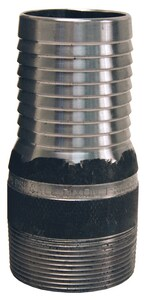 Dixon Valve & Coupling 3/4 in. Threaded Unplated Steel King Combination Nipple with NPT End DST