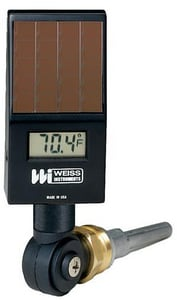 Weiss Instruments Vari-Angle® -50 to 300 Degree F 300 PSI Solar Digital Thermometer WDVU35