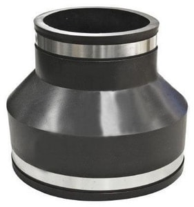 Fernco Asbestos Cement Fiber and Ductile Iron x Cast Iron and PVC Flexible Coupling F105146