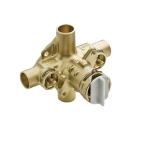 Moen Single Knob Handle Tub and Shower Pressure Balancing Valve Centerset with Stops in Smoke M62370