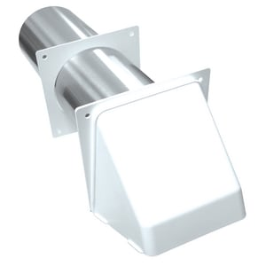 Lambro Industries 3 in. Plastic Dryer Vent Hood With Tailpiece L222