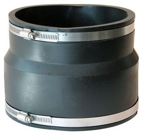 Fernco Clay x Cast Iron and Plastic Flexible Coupling F1002