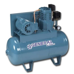 General Air Products Lubricated Tank Mounted Air Compressor GLTA
