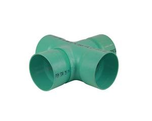 PVC Sewer Solvent Weld Cross MUL040915