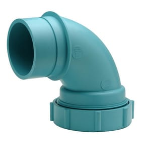 Zurn Corrosive Waste Drainage Socket x Spigot Acid Waste 90 Degree Elbow ZZ9AE90S