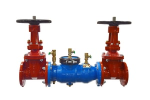 Model 350 Epoxy Coated Ductile Iron Flanged 175 psi Backflow Preventer W350OSY