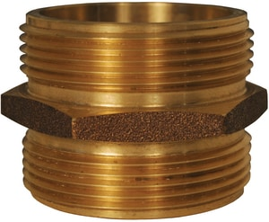 Dixon Valve & Coupling 2-1/2 x 2-1/2 in. MNPT Brass Hex Nipple DDMH25F25F