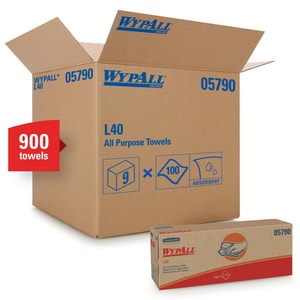 Kimberly Clark WypAll® L40 13 in. Pop-Up Wipes in White (100 per Box) K05790