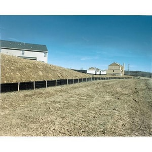 Mutual Industries North 36 in. Heavy Duty Silt Fence with 10 ft. Center Post M1498736