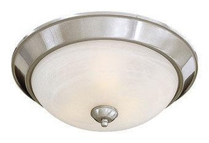 Minka Paradox™ 6 x 15-1/2 in. 60 W 3-Light Medium Flush Mount Ceiling Fixture M89384