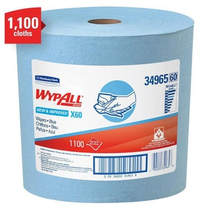 Kimberly Clark WypAll® X60 13-2/5 in. Wipers Pewter Jumbo Roll in Blue K34965