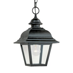 Seagull Lighting Bancroft 100 W 1-Light Medium Lantern in Black S601612