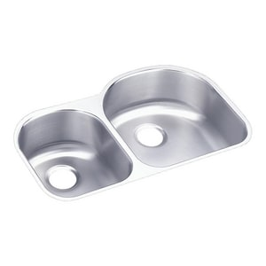 Elkay Harmony™ 31-1/2 x 20 x 7 in. 30/70 Double Bowl Under-Mount Sink EELUH3119L