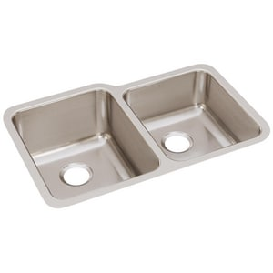 Elkay Harmony™ 31 x 20 in. 55/45 Double Bowl Under-Mount Sink EELUH3120R