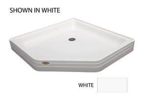 Jacuzzi Cayman® 42 x 42 in. Neo Angle Shower Base with Center Drain JCAY4242SNXXXX