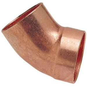 DWV FTG x Sweat Copper 45 Degree Street Elbow CDWVS