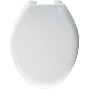 Church Seat Easy2™ Plastic Elongated Closed Front With Cover Toilet Seat in White C380SLOWT000