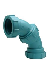 Zurn Corrosive Waste Drainage Threaded Schedule 40 Polypropylene 90 Degree Elbow ZZ9ALS90