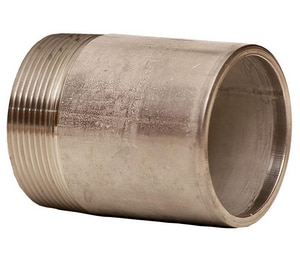 Merit Brass 3/8 in. Schedule 40 304L Stainless Steel Weld Threaded on End Nipple DS44NTOEC