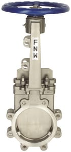FNW 316L Stainless Steel 1-Way Flow Outside Stem and Yoke Lug Knife Gate Valve FNW65B