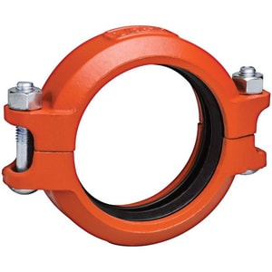 Victaulic Grooved Painted Ductile Iron Coupling with T-Gasket VL075PT0