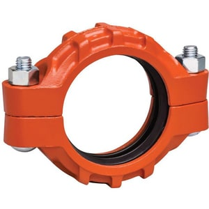 Victaulic Style 77 Grooved Painted Ductile Iron Coupling with Enamel Gasket VL0077PE0