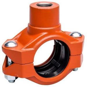 FireLock® 500 psi Orange Enamel Coupling VL072PEF