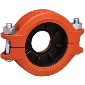 Victaulic Style 750 Grooved 350# Painted Ductile Iron Coupling with Enamel Gasket VL750PE0