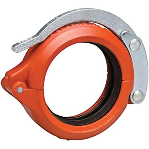 Victaulic Style 78 Slip Joint Painted Ductile Iron Coupling with Enamel Gasket VL078PEA