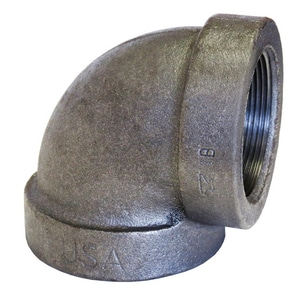 125# Threaded Black Cast Iron Reducing 90 Degree Elbow BCI9G