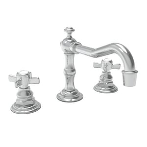Newport Brass 3-Hole Widespread Lavatory Faucet with Double Cross Handle and 3-5/16 in. Spout Height N1000