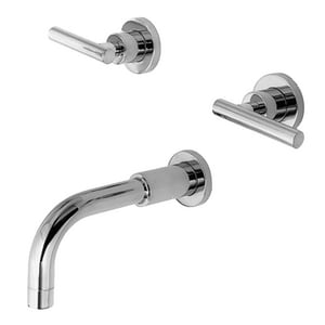 Newport Brass East Linear Wall Mount Tub Faucet with Double Lever Handle N3-995L