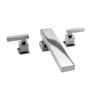 Newport Brass Cube 2 Roman Tub Set with Trim Kit in Polished Chrome N3-2026/26