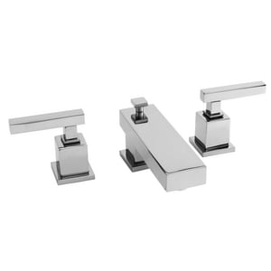 Newport Brass Cube 2 3-Hole 1.2 gpm Widespread Lavatory Faucet with Double Lever Handle N2020
