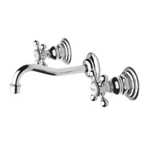 Newport Brass Chesterfield 3-Hole Widespread Lavatory Faucet with Double Cross Handle and 7-1/4 in. Spout Reach N3-9301