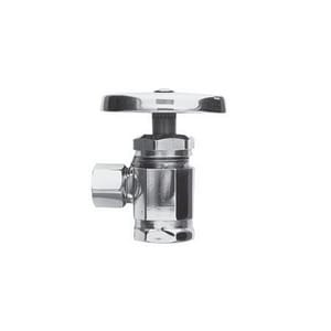 Brasstech IPS x OD Compression Angle Valve in Polished Nickel B401/15