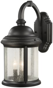 Minka Hancock 17-1/2 in. 60 W 3-Light Candelabra Lantern in Black M901166