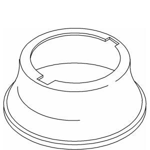 Kohler One-Hole Escutcheon K1000193
