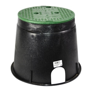 NDS 10 in. Valve Box with Green Lid for Water N111BCW