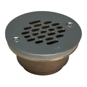 Weld-On IPS Shower Drain with Stainless Steel Short Grate I67038
