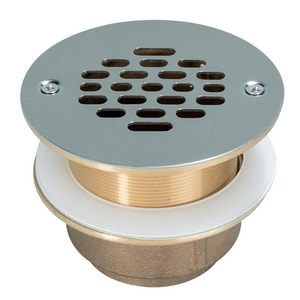 Weld-On IPS Shower Drain with Stainless Steel Long Grate I67039