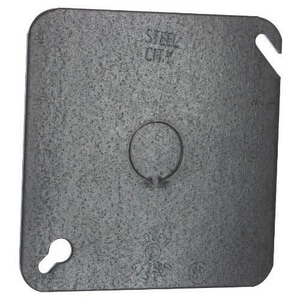 Steel City Square Cover with Knockout S52C6