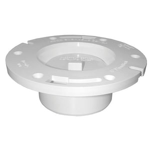 Jones Stephens 2-1/4 in. PVC Flat Closet Flange with Knockout JC50340