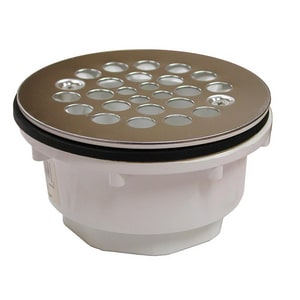 Jones Stephens 2 in. PVC Fiberglass Shower Drain Stainless Steel JD41001