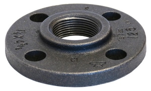 5 in. Threaded 125# Black Cast Iron Flange BCICFS10 at Pollardwater