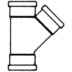 SDR21 Gasket PVC Sewer Wye MUL0433