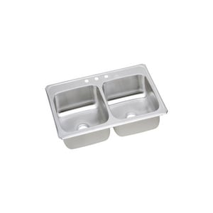 Elkay Celebrity® 2-Bowl Stainless Steel Kitchen Sink ECR4322